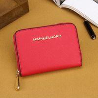 Wholesale Multiple Wallet - high quality European style women wallets fashion zipper coin pocket bag designer mini wallet brand purse multiple colors optional.