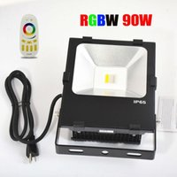 Wholesale Touch Screen Ip65 - 90W RGBW LED Flood Light with 2.4G 4-Zone Touch Screen Remote Control and Meanwell Driver