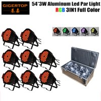 Wholesale Indoor Lights China - 8in1 Flightcase Packing Aluminum 54pcs 3W RGB 3IN1 No Waterproof Indoor Led Par Light China Manufacturer Tianxin LEDS NO Flicker TP-P54B