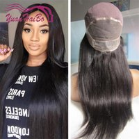 Wholesale Thin Lace Wigs - Fashion 8a quality 1b silky straight virgin malaysian hair thin skin around full lace wig Free Shipping