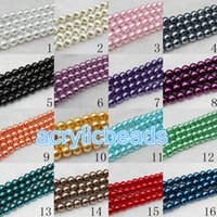 Wholesale Glass Pearl Bead Strands Wholesale - High Quality 8mm 100pcs Round Glass Faux Pearl Beads for Jewlery Necklace Strand Craft Supplies Charming DIY