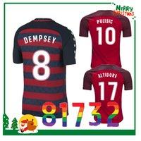 Wholesale Shirt Usa - USA Thailand Quality 2017 United States Gold Cup soccer Jerseys DEMPSEY DONOVAN BRADLEY PULISIC men Football shirts