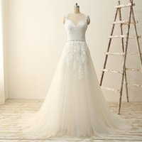 UK wedding dress sweetheart beading real - 2017 Real Picture Ivory A-Line Wedding Dresses Sweetheart Spaghetti Strap Applique Sexy Backless Sequins Beading Bridal Gowns