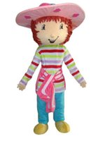 Wholesale mascot costumes for girls - Strawberry Shortcake Girl Mascot Costume Fancy Birthday Party Dress Halloween Carnivals Costumes With High Quality For Adult