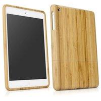 Wholesale Ipad Mini Bamboo - Wholesale- Drop shippingSimpleStone Genuine Natural Bamboo Wood Case Cover Skin for iPad 1 2 3 mini Retina New June01 mosunx