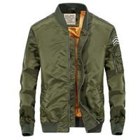Wholesale large mens coats jacket - Winter Casual Bomber Jackets Mens Windbreaker Coats Brand Spring Regular Men's Clothing Solid Coats Three Colors Plus Large Size 3XL