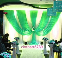Wholesale Table Valance - 3M high*6M wide backdrop with swags party background valance wedding backcloth stage curtain (10ft*20ft) funeral backdro