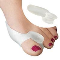 pie suave en gel al por mayor-Soft Bunion Protector Toe Straightener Toe Seperating Toe Separadores de gel Facilita el dolor en los pies Cuidado de los pies Cuidado de los pies Herramienta Thumb Valgus