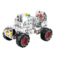 Wholesale Creative Jeep Model Toy Bricks Metal Stainless Steel Building Blocks Improve Cognitive Ability D Assembly Toys Hot Sale LX013 B