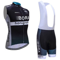 Wholesale Cycling Vest Bib - Bora Pro Team 2017 Cycling Vest MTB Ropa Ciclismo Cycling Jerseys Tops+ Bib None Bib Shorts Size XS-4XL Black Bike Wear
