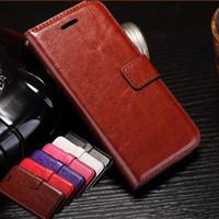 deli derileri toptan satış-IPhone 7 7 artı vaka Vintage Retro Kapak Standı Cüzdan kılıfları crazy-horse deri kartları pürüzsüz cilt Kılıfları Telefon Kapak iphone 5 6 s artı