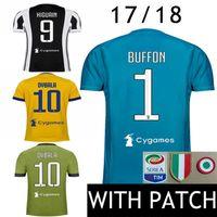 Wholesale Soccer Jersey Goalkeeper - 17 18 Soccer Jersey #10 Dybala Italy MAGLIA Calcio HIGUAIN Italia Goalkeeper Buffon 2017 2018 D.Costa MANDZUKIC Bernardeschi Football Shirts