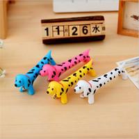 Wholesale Cute Notes Korea - cute 3D spotty dogs ballpoint pen, Creative pen cute korea stationery student pen 0.7 mm kids gift
