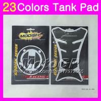 tanques suzuki al por mayor-23Colors 3D Protector de la almohadilla del tanque de gas de fibra de carbono para SUZUKI GSXR1000 00 01 02 K1 GSXR 1000 GSX R1000 K2 2000 2001 2002 3D etiqueta engomada de la tapa del tanque