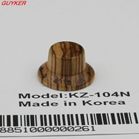 Wholesale Strat Knobs - PK-KZ104 Zebra Wood Strat Style Bell Knobs for Guitar Bass 1-10 Press Fit