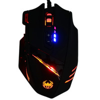 best led optical usb mice  - ZELOTES C-12 Wired USB Optical Gaming Mouse 7 LED Lights 12 Key Adjustable 4000DPI Computer Mouse Mice Cable Mouse for Pro Gamer +B