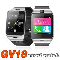 Wholesale Wholesale Black Window Alarm - GV18 smart watch NFC touch watch phone call to remind the alarm anti-lost remote camera iphone7plus 6s waterproof dz09 Z60 A1 Q18 GT08 gift