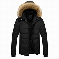 Wholesale Male Big Size Winter Coats - Wholesale- Winter Jackets Men's Warm Casual Plus Thick High Quality Outwear Big Size Brand Clothing Male 5XL Mens Coats Down Jacket Z2737