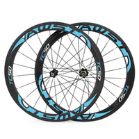 Wholesale China Roads - Made in china road bike wheels 50mm clincher cos Sl bicycle carbon wheels V brake surface basalt surface with powerway ceramic bearing hubs