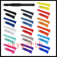 Wholesale pro bracelet resale online - Wrist Wearables Silicone Straps Band For Samsung Galaxy Gear Fit Fit2 R360 PRO R365 Watch Classic Replacement Bracelet Colors
