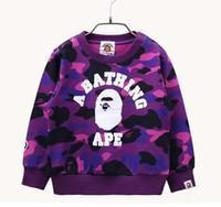 Wholesale 3t Christmas Sweater - Children Hoodies Girls Red Christmas Reinde Camouflage shark Hoodie Boy Baby Sweatshirts Kid's Cartoon Sweater