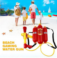 Wholesale classic fire - Child Summer Beach Gaming Water Gun Kids Outdoor Super Soaker Blaster Fire Backpack Pressure Squirt Pool Toy Brithday Xmas Gifts