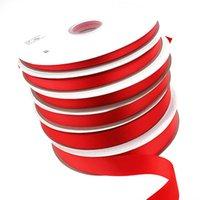 ingrosso accessori per l'arco dei capelli-LaRibbons nastro di raso di colore rosso per il pacchetto regalo Avvolgere i capelli fermagli Accessori Fare decorazioni di nozze e decorazioni natalizie