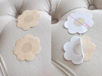 Wholesale Dhl Breast - Woman One-time Nipple Cover Patch Breast Nipple Pad Petals Invisible Bra Sport Sin bra Breast Nipple Pad Petals Round Heart 2000Pcs DHL!!