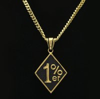 Hommes Femmes Hip Hop Crafts Pendentifs Outlaw One Percent 1% ER Colliers Golden Chains Charm Bling Jewelry Cadeaux Chokers