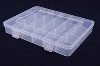 Wholesale Hardware For Boxes - 2017 New Fashion Plastic Storage Box Small Hardware Pieces Case Holder Container For Small accessories 1202
