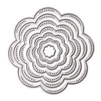 Wholesale paper dying - 7Pcs Set Flower Circles Metal Cutting Dies Stencils DIY Scrapbook Embossing Album Paper Card Craft