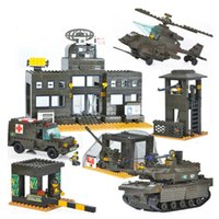Wholesale Construction Military - Sluban Military Series Army Heavy Tank Helicopters Air Defense System Construction Building Blocks Bricks Compatible With Legoe