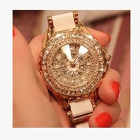 Hot Mashali Relógios Moda Mulheres Relógio de cerâmica Lady Shining Dress Watch Big Full Diamond Relógios de pulso Lady Watch