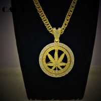 Wholesale Nightclub Accessories - CARA 2017 new men hot selling fashion accessories Nightclub performance bar hip hop necklace hipster men CAGF0127