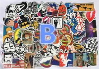 Wholesale Fast Car Stickers - Waterproof Stickers Decal Car Skateboard Scooter Luggage Sticker 100 pcs No Duplicates Doodle Decoration Fast Shipping