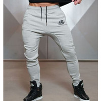 Wholesale Workout Cloths - Wholesale- New Arrivals 2017 Year Men's Body Engineers Workout Cloth Sporting Active Cotton Pants Men Jogger Pants Sweatpants Bottom Leggin