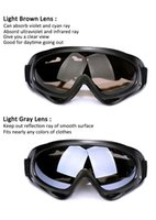 Wholesale Cool Ski Goggles - X400 Tactical Motorcycle Cycling ATV Glasses Outdoor Sport Cool Motocross ATV Dirt Bike Off Road Racing Goggles Motorcycle Glasses Ski
