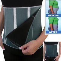 Wholesale Exercise Belt For Free - Neoprene Gray Color Adjustable Waist Trimmer Exercise Zippers Wrap Slimming Belt Stretch Body Shaper For 2017 New Women