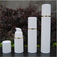 PP 15ml 30ml 50ml airless bottle white clear color airless pump for lotion BB cream vacuum bottle White + Gold F20171085