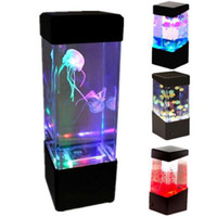Wholesale Mood Cups - New Relaxing Bedside Mood Lamp Volcano Water Aquarium Fish Tank LED Light MLLW_001