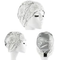 Wholesale Lace Beach Hats - Wholesale- Women's Lace Swimming Cap Flower Elastic Hollow Out Bathing Hat Beach Swimming Pool