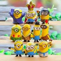 Wholesale Despicable Toys Pvc - 10pcs set Despicable Me 2 Minion Action Figures Minions Cosplay PVC Action Figure Toys Anime Figurines Model Toy Gift for Kids