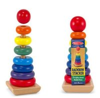 Wholesale Educational Pillars Toys - Wooden Children 's Educational Toys Rainbow Tower Sets of Pillars Baby Cognitive Toys