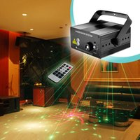 Wholesale Laser Show System Mini - Wholesale- RG 40 Patterns Red Green Mini Laser Projector Light and Blue LED with Remote laser show system auto Sound  Music Active DJ Disco