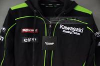 Wholesale Kawasaki Motorcycle Jackets Men - New Men's Clothing 100% Cotton Kawasaki Team Hoodies MotoGP Sweatshirts Motorcycle Winter Sports Jackets CV