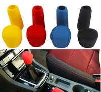 Barato Botões De Engrenagem Estilo-Car Styling Universal Handbrake Grips Durable Car Decoração de interiores Gear Shift Collars Silicone Gear Head Shift Knob Cover