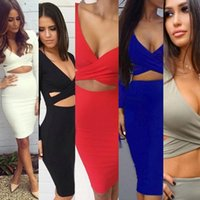 Wholesale Sexy Nightclub Dress Code - Long Sleeves Sleeve Sexy Nightclub Maxi Dress 5 Color 4 Code Clothing Ladies Casual Dresses For Women Clothes Woman
