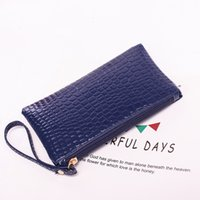 Wholesale Cheap Black Pillows - Wholesale Cheap Women Handbag Famous Brand PU Leather Zipper Clutch Solid Color Handbag Lady Coin Purse Simple Female Clutch with Strap