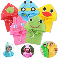 Wholesale Children Rain Coat Cartoon Animal - New Funny Rain Coat Kids children Raincoat Kids Rainwear Waterproof poncho Animal Raincoat cartoon raincoats IA024