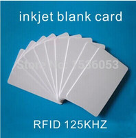Wholesale Epson Tray - Wholesale- Free Shipping 100 PCS Lot rfid 125Khz EM4100 Chip Blank ID Inkjet Card Printable By Epson  Canon Printer with Card Tray